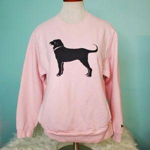 The Black Dog Pink cotton sweatshirt